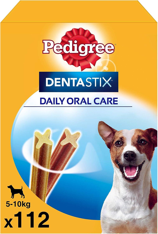 Pedigree Dentastix de uso diario para la limpieza dental de perros pequeños, Pack de 112