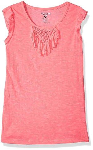 Kensie Little Girls' Fashion Tank, Neon Pink, 4