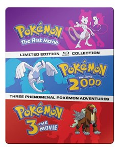 pokemon movie 1-3 steelbook blu-ray