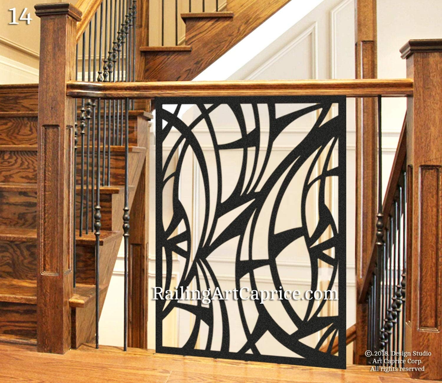 Amazon Com Modern Interior Railings Staircase Decorative Panel | Decorative Handrails For Stairs | Main Entrance | Solid Wood | Different Style | Elegant | Steel Pipe