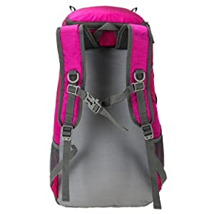 Padded shoulder straps with chest strap