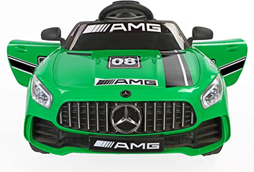 Toy House Plastic Futuristic Benzy AMG Rechargeable Battery Operated Ride-on Car for Kids (Green , 2 to 5 Years)