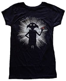 Harry Potter Dobby Magic Juniors Black T-shirt S