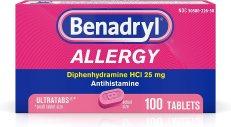 Amazon.com: Benadryl Ultratabs Antihistamine Allergy Relief ...