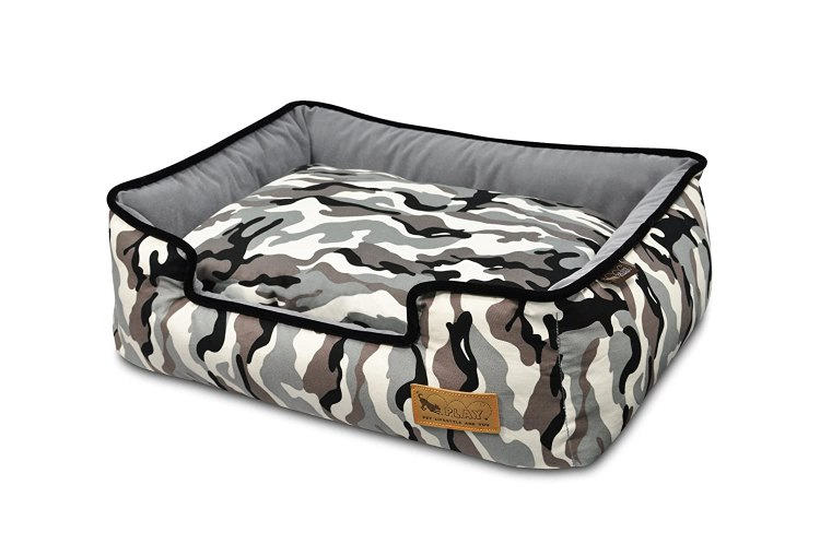 White Camo Dog Bed