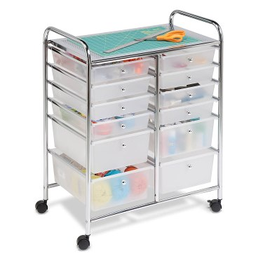 Craft room supply storage