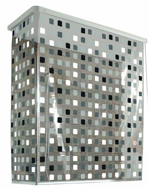 Kleine Wolke 3319110745 Eckduschrollo, 132 und 56 x 240 cm, grau von Kleine Wolke