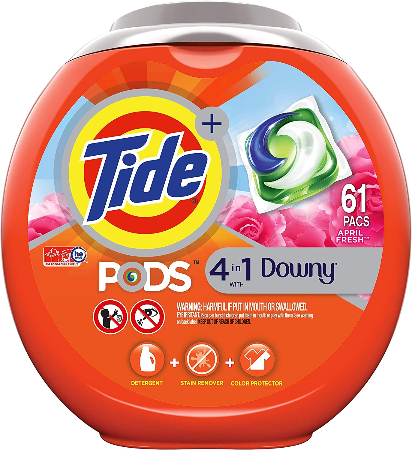 Tide PODS Plus Downy 4 in 1 HE Turbo Laundry Detergent Pacs