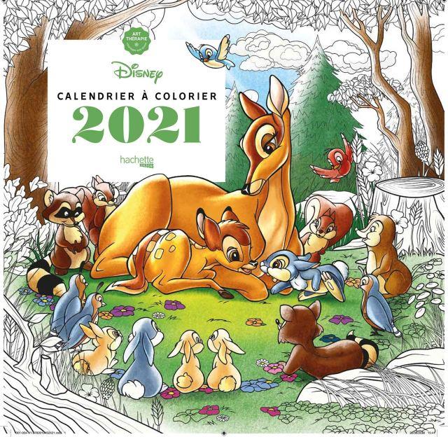 Calendrier Art-thérapie Disney à colorier 23 (Heroes) (French