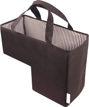 Bramble Cove Folding Fabric Baskets for Wooden Stairs