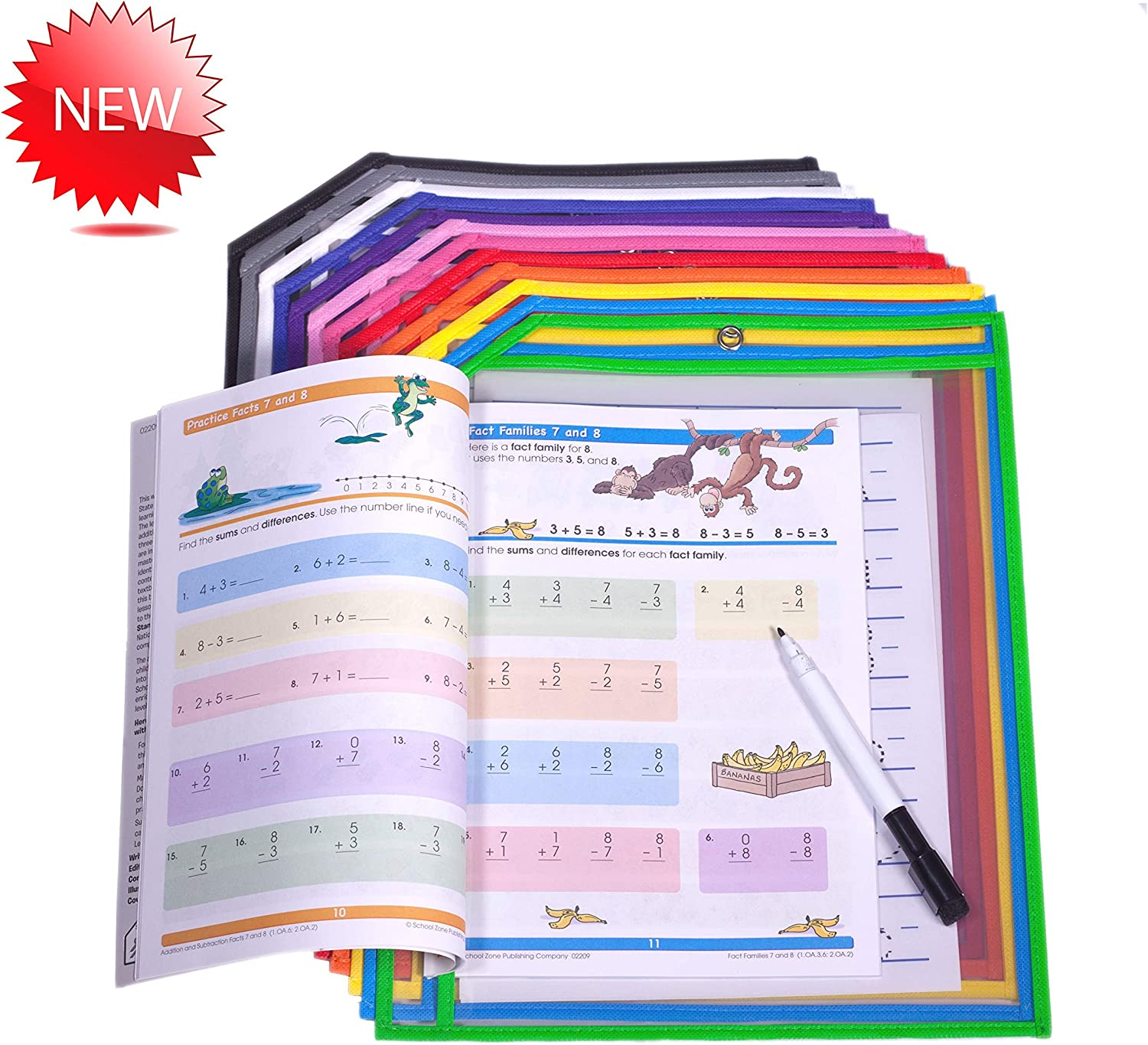 Clear Page Protectors - Homeschooling Hack