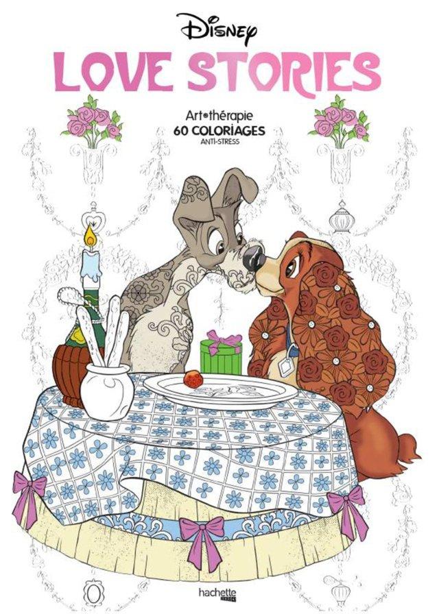 Disney love stories: 30 coloriages anti-stress : Bertrand, Aurélia