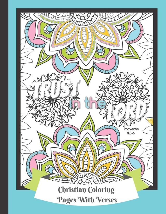 Christian Coloring Pages With Verses: Religious Color Book For