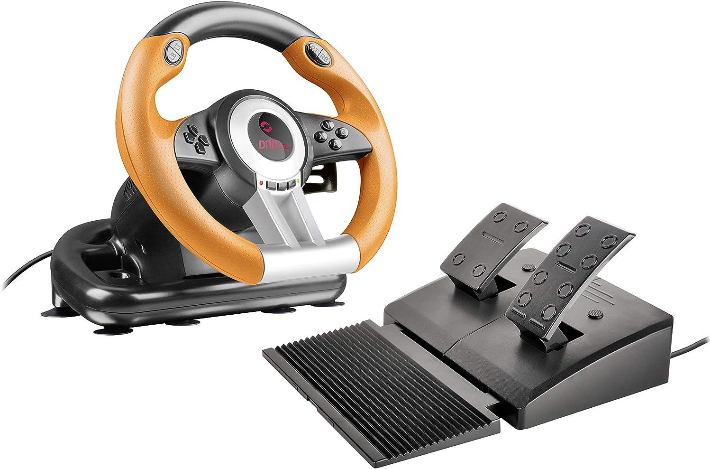 Ισπανικό amazon | Speedlink DRIFT OZ Black & Orange Computer Gaming Steering Wheel
