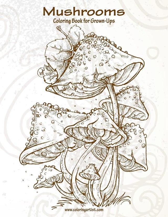 Amazon.com: Mushrooms Coloring Book for Grown-Ups 28: 978285332870606