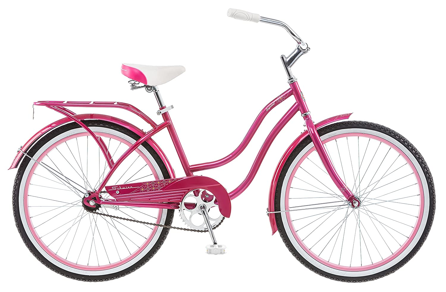 Schwinn Girl's Cruiser Bike, 24-Inch, Pink