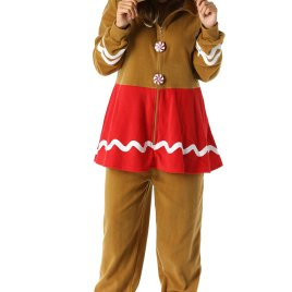 a49acfc208  followme Adult Christmas Gingerbread Onesie for Women Jumpsuit One-Piece  Pajamas