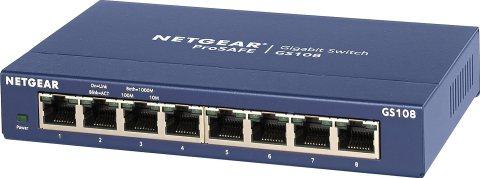 NETGEAR スイッチングハブ ギガビット8ポート/金属シャーシ/設定不要/外部電源/ファンレス静音設計/省エネ/オフィス向け/無償永久保証 GS108-400JPS