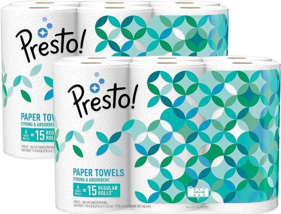Amazon Brand Presto paper Towel