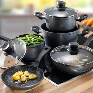 Stoneline 12 pc nonstick cookware set