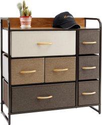 Kamiler 7 Drawer Dresser, Bedroom Furniture Storage Organizer