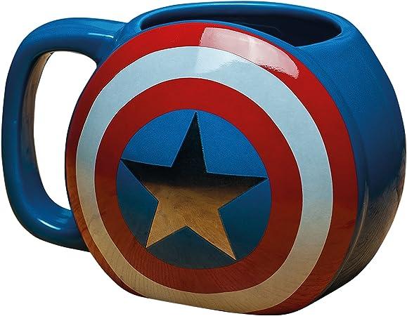 Marvel Avengers – Taza de cerámica, diseño del Capitán América con escudo