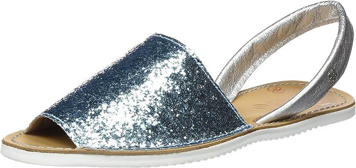CUPLÉ Abarca Glitter, Sandalias con Punta Abierta para Mujer