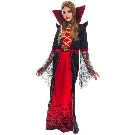 Royal Vampire Costume for Girls Deluxe Set