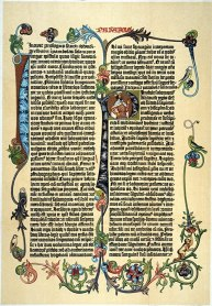 Amazon.com: Gutenberg Bible Na Page Of Johann GutenbergS 42-Line ...