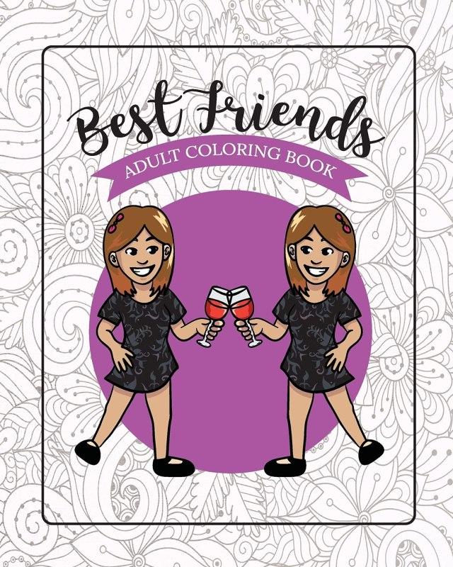 Amazon.com: Best Friends Adult Coloring Book: Funny Best Friend