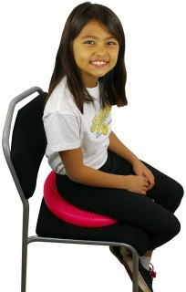Counselor must haves: photo of student using a seat disc