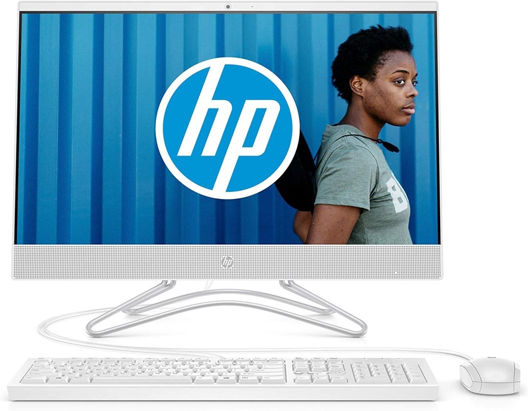 HP 24f0079nf Ordinateur Toutenun 23,8'' FHD IPS Blanc (Intel Core i3, 4 Go de RAM, 2 To de Stockage, Windows 10)