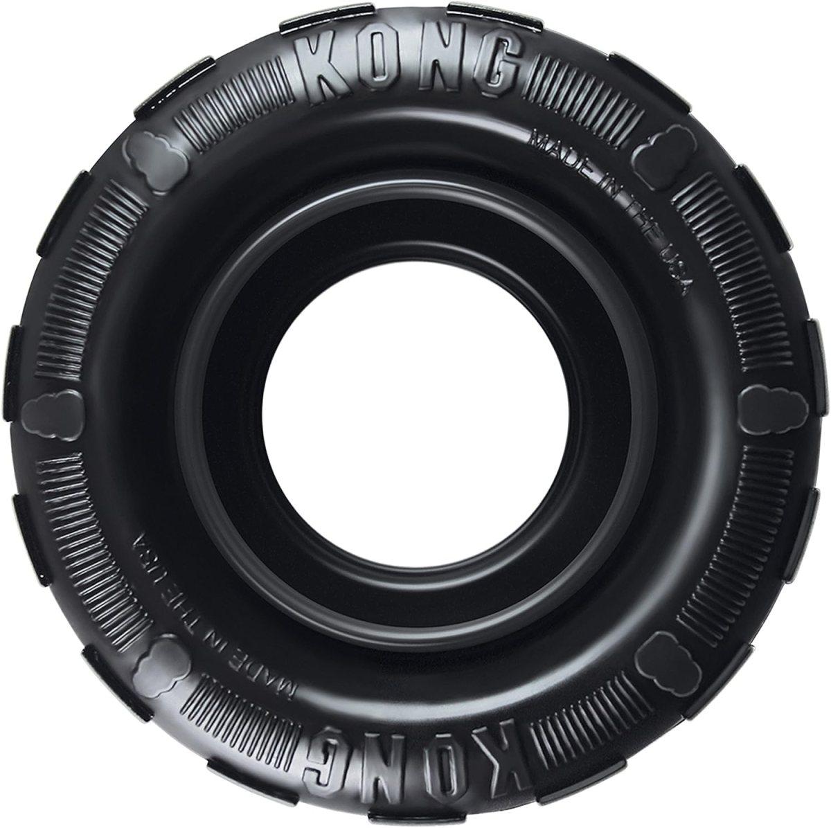 KONG - Tires - Mordedor dispensador de golosinas, en caucho - Raza mediana/grande