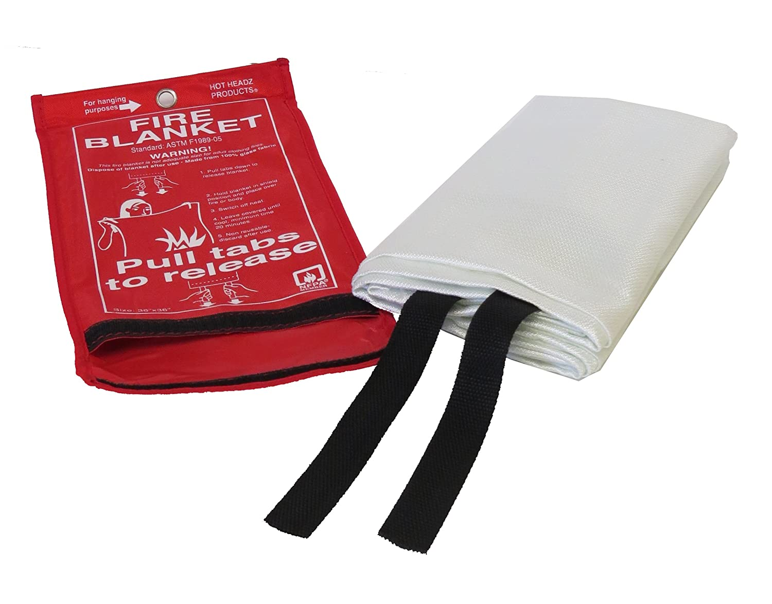 Amazon.com : Hot Headz Fire Blanket We keep a few of these scattered around our boat and RV to smother out a fire should it occur.