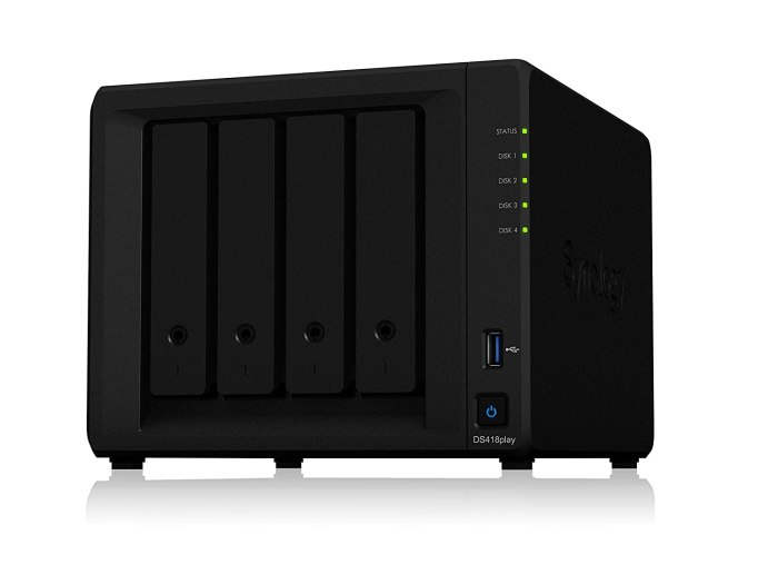 Amazon.com: Synology DS418play NAS Disk Station Our boat's central NAS for back-ups and media storage.