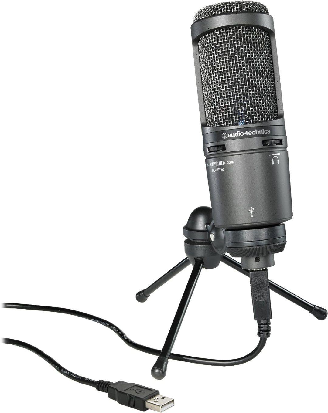 Audio-Technica AT2020USB+ Microphone cardioïde USB pour Ordinateur/Tablette Noir