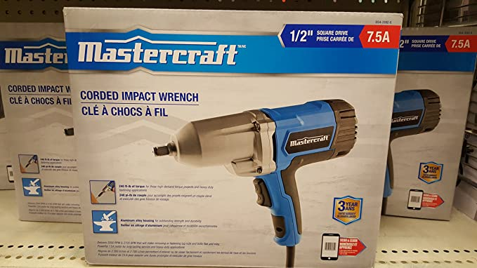 Mastercraft 7 5a Impact Wrench 1 2in