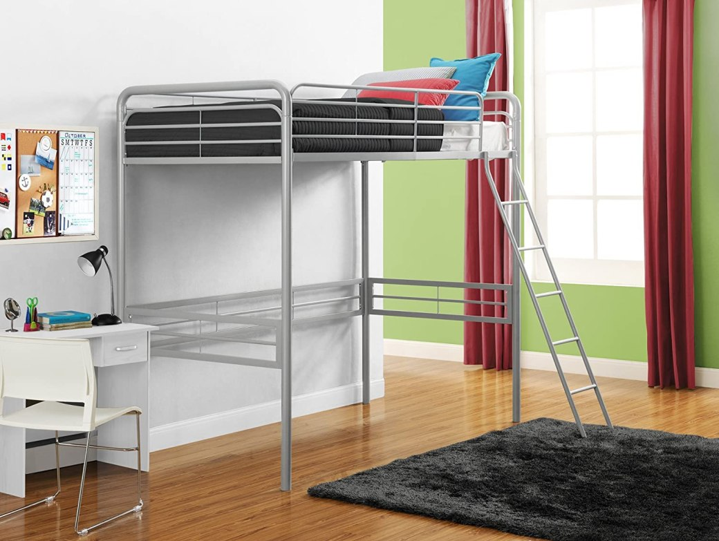 Signature Sleep Metal Twin Loft Bed