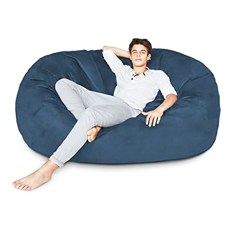 Men-Sitting-In-Bean-Bag-Chairs