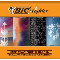 BIC Special Edition Bohemian Series Lighters, Set of 8 Lighters
