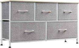 WLIVE 5 Drawer Dresser for Bedroom Organization and Storage