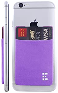 Zero Grid Cell Phone Stick On Wallet Case with RFID Blocking
