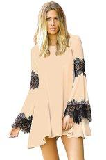 Elan Women's Boho Chiffon and Lace Tunic Dress (Small)