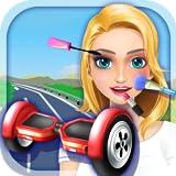 Girl Hoverboard Simulator - Makeup & Dressup Salon Game FOR FREE