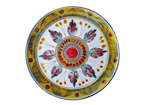 Piatto Decorativo Da Parete In Ceramica Di S Stefano Di