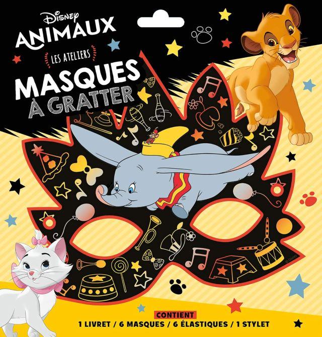 DISNEY ANIMAUX - Pochette Les Ateliers - Masques à gratter: 30