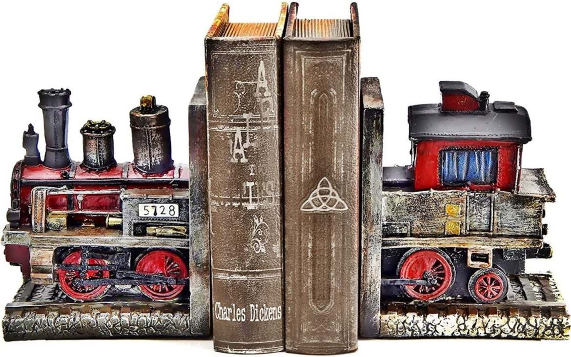 Steam train bookend