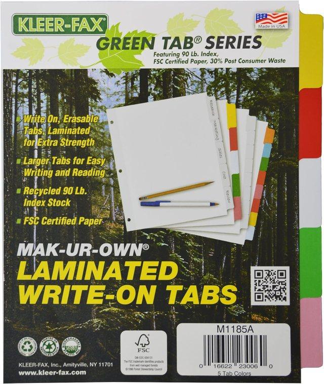 kleer-fax mak-ur-own laminiert beschriftbare Taben, 29 Tab, 29–29/29,29