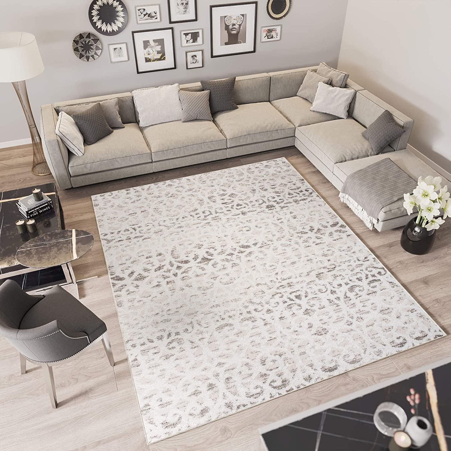 Tapiso Troya Rug Short Pile Modern Geometric Ethnic Moroccan Design Cream Living Room Bedroom Mottled Oekotex Polyester Cream Brown 200 X 300 Cm Amazon Co Uk Kitchen Home