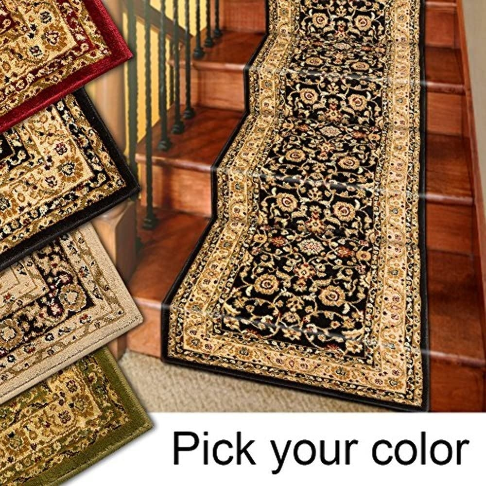 Amazon Com Marash Luxury Collection 25 Stair Runner Rugs Stair | Rug Runners For Stairs | Wood | Antelope | Hallway | Persian | Mid Century Modern